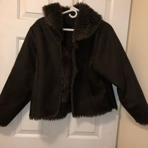 Mixit Suede brown with photo for coat large women